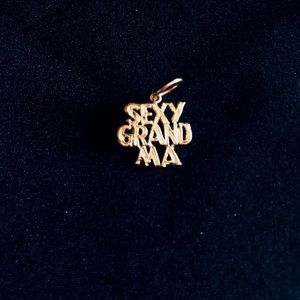 Jewelry - 14K Gold Diamond Cut Sexy Grandma Charm Pendant